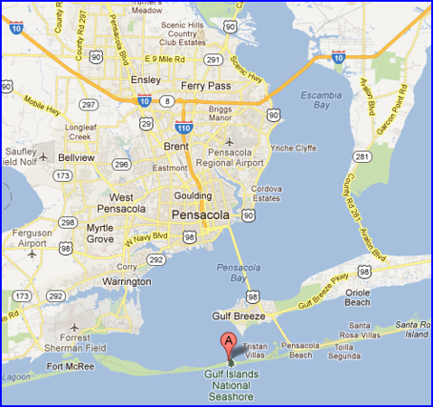 fort pickens florida map