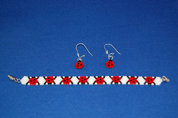 LadyBug Bracelet & Earrings Set