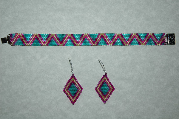 Buttercup, Mint Green, & Hot Pink With Matching Earrings