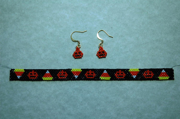 Halloween Bracelet & Earrings